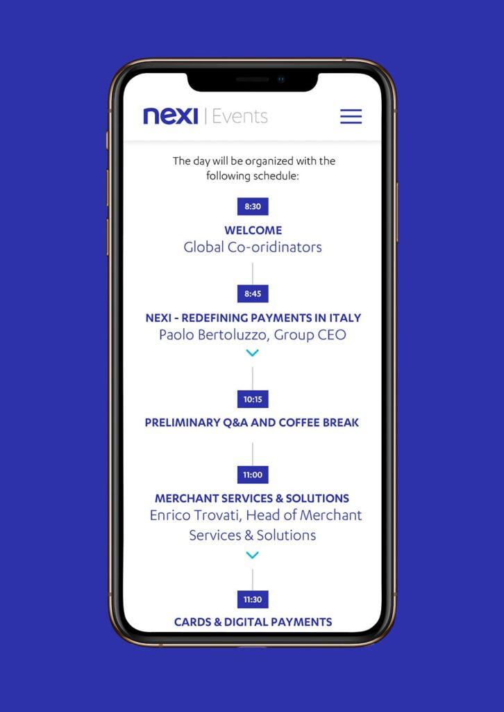 Nexi Events Agenda